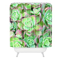 Lisa Argyropoulos Succulents Color Shower Curtain