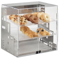 18.875W x 16D x 19H Squared Bakery Display Case Silver