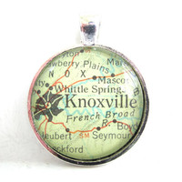 Knoxville Tennessee Pendant from Vintage Map by CarpeDiemHandmade