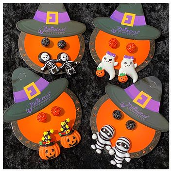 Adorable Set of 2 Halloween Earrings