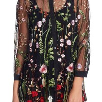 Catherine Catherine Malandrino Franzisca Embroidered Blouse | Nordstrom