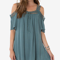 O'Neill Dominca Cold-Shoulder Shift Dress | macys.com
