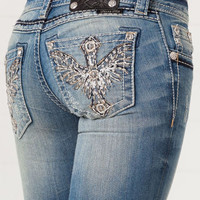 Miss Me Cross and Wing Skinny Jeans