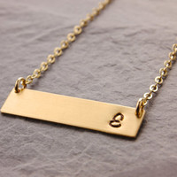 Initial Bar Necklace, gold bar necklace, silver bar necklace, name plate necklace, monogram necklace, initial necklace, mothers day, N24