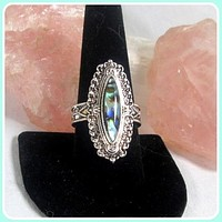 """""""Protection """" Labradorite Sterling Silver Ring"""
