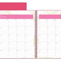 July 2015 - June 2016 Susy Jack Blomma Weekly/Monthly Planner 8.5x11