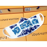 LV Louis Vuitton Comfortable isolation mask with printed letters Blue(safely disinfected)