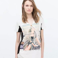 New Hot Fashion Womens Casual Blouse Short Foever21 Like Sleeve Shirt T shirt Summer Blouse Tops = 4721719364