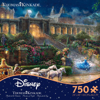 Ceaco Thomas Kinkade Disney Cinderella - Clock Strikes Midnight 750 Piece Puzzle