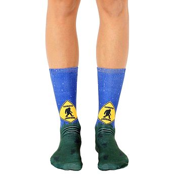 Sasquatch Crossing Crew Socks