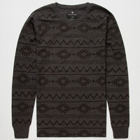 Shouthouse Dustin Stripe Mens Thermal Charcoal  In Sizes