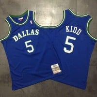 1994-95 Mitchell & Ness Dallas Mavericks 5 Jason Kidd Retro Swingman Jersey