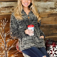 * Simply Southern Fuzzy Sherpa: Heathered Black