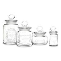 Decorative French Canisters, Set of 4