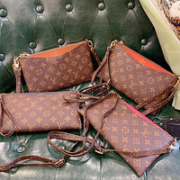 LV Louis Vuitton New Products Hot Sale Women Classic Embossed Letters Colorblock Diagonal Bag Cosmetic Bag