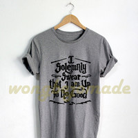 Harry Potter Halloween Shirt I solemnly swear that I am up to no good T Shirt Black Grey Maroon and White Color T-Shirt