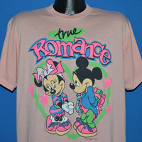 90s Mickey Mouse Minnie True Romance t-shirt Extra Large