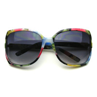 Vintage Retro Cat Eye Butterfly Colorful Sunglasses