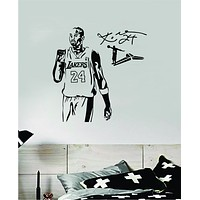 Kobe Bryant V1 Wall Decal Home Decor Sticker Art Vinyl Bedroom Room Quote Teen Kids Boy Girl Baby Sports Lakers 24 Black Mamba Basebetball