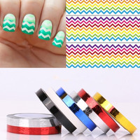 1pc Chevron Nail Striping Tape Colorful Nail Art Tape Line Stickers Lines (23383#) = 5658936193