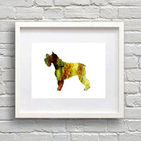 Schnauzer Watercolor Print, Dog Art, Dog watercolor, watercolor painting, animal watercolor, Schnauzer art, dog art, dog poster