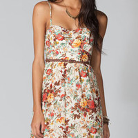 LOTTIE & HOLLIE Belted Floral Bra Cup Dress
