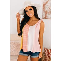 My Cup Of Tea Color Block Tank Top (Multi)