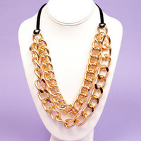 Double Chain Curb Necklace $9