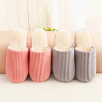 Couple Cotton Korean Simple Design Home Winter Anti-skid Slippers [9067740228]