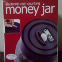 "Park Avenue Electronic Coin Counting Money Jar ""Black"""