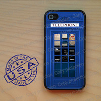 SALE London Phonebooth blue phone box Rubber iPhone 5 Case, iPhone 4, iPhone 4 case, iPhone 4S case, iPhone 5 hard cover, iPhone 4 cover