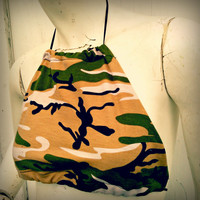 camouflage Halter one size fits most crop top Camo