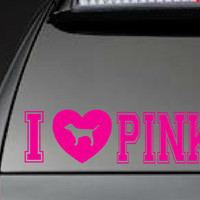 """Victoria's Secret, """"I Love Pink"""" - Car, Laptop, Cell Phone Decal - Free Shipping"""