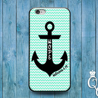 iPhone 4 4s 5 5s 5c 6 6s plus iPod Touch 4th 5th 6th Generation Cool Bible Verse Quote Hope Anchor Green Cute Phone Cover Hebrews Fun Case