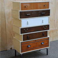 Elemental antique vintage retro furniture lighting seating : antique : Up-cycled Chest of Drawers