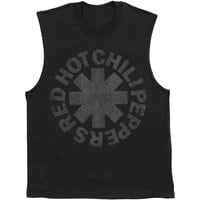 Red Hot Chili Peppers Men's  Tonal Asterisk Mens Tank Black