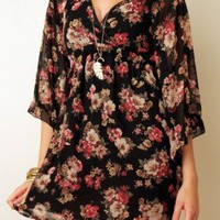 Bell Flowers Dress at Nectar Clothing