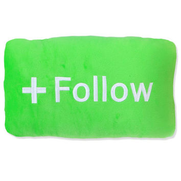 FOLLOW BUTTON PILLOW