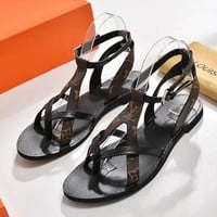 Louis Vuitton LV Women Fashion Flats Sandal Shoes