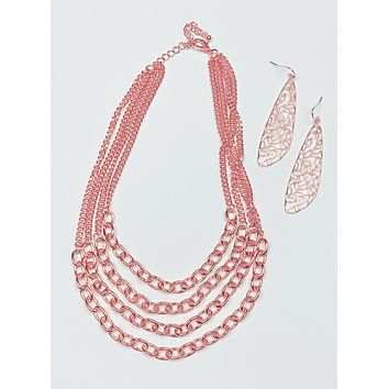 In Love With Layers Rose Gold Necklace