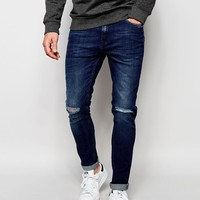 Produkt   Produkt Mid Wash Jeans with Rips in Super Skinny Fit at ASOS