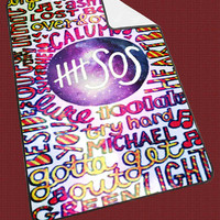 5 second of summer 5 SOS collage galaxy nebula 511d243c-3045-4c59-812d-5bbe925f5ce4 for Kids Blanket, Fleece Blanket Cute and Awesome Blanket for your bedding, Blanket fleece**
