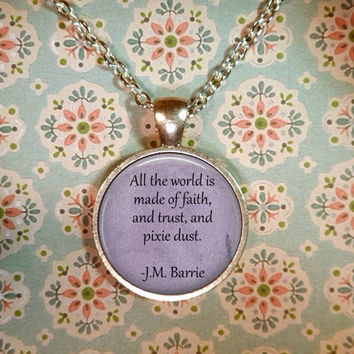 Peter Pan Necklace, Neverland, Once Upon a Time, Fairy Tales, Tinkerbell T1203