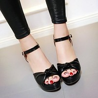 Women Peep Toe Ankle Straps Platform Sandals High Heels 8927