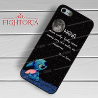 Disney Lilo and Stitch moon galaxy quotes -EnLs for iPhone 6S case, iPhone 5s case, iPhone 6 case, iPhone 4S, Samsung S6 Edge