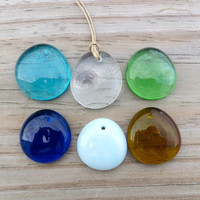 Glass Drop Necklace Surfer Beach Boho Chic by WaveofLife on Etsy