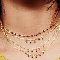 Womens Retro Boho Anklet Necklace Necklace Choker +Gift Box-21