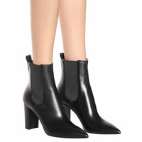 Myers leather ankle boots