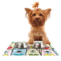 "Snap Studio ""Bear Hugs"" Animal Illustration Dog Place Mat"