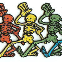 Grateful Dead Iron-On Patch Dancing Skeletons Strip